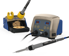 Picture of soldering iron with two ports